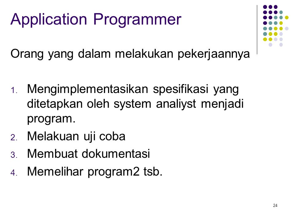 Application Programmer