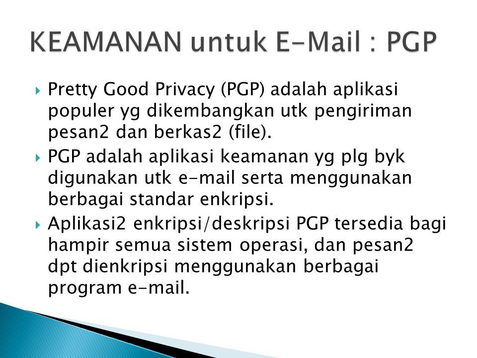 KEAMANAN untuk E-Mail : PGP