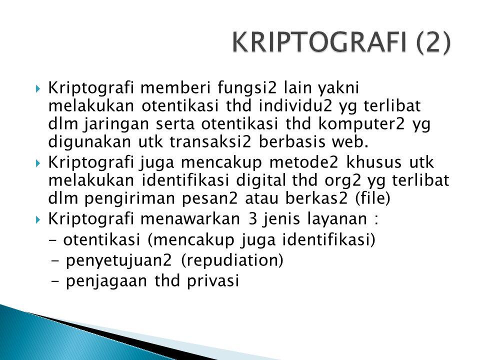 KRIPTOGRAFI (2)