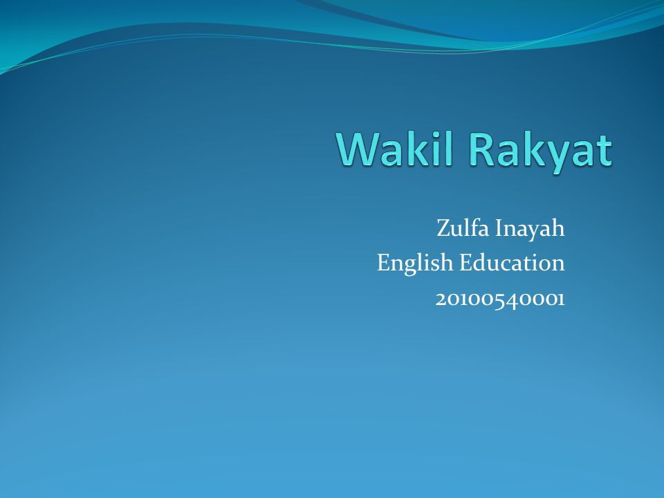Zulfa Inayah English Education 20100540001