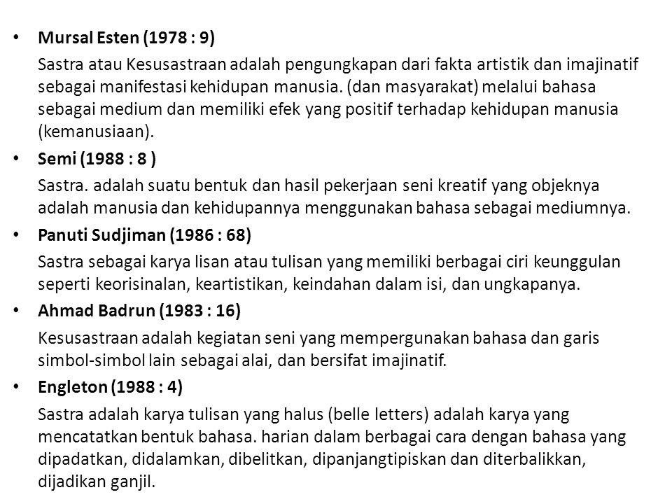 Mursal Esten (1978 : 9)