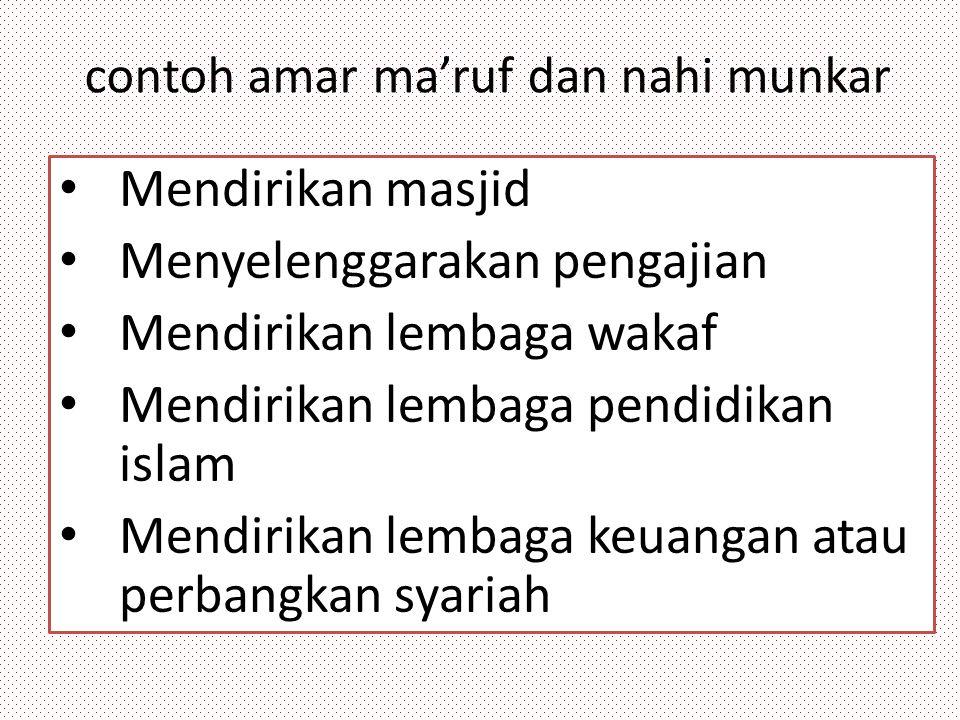 contoh amar ma'ruf dan nahi munkar