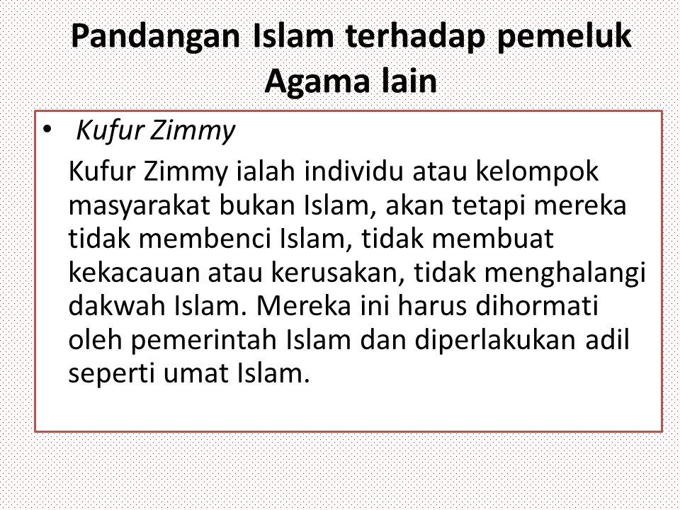 Pandangan Islam terhadap pemeluk Agama lain