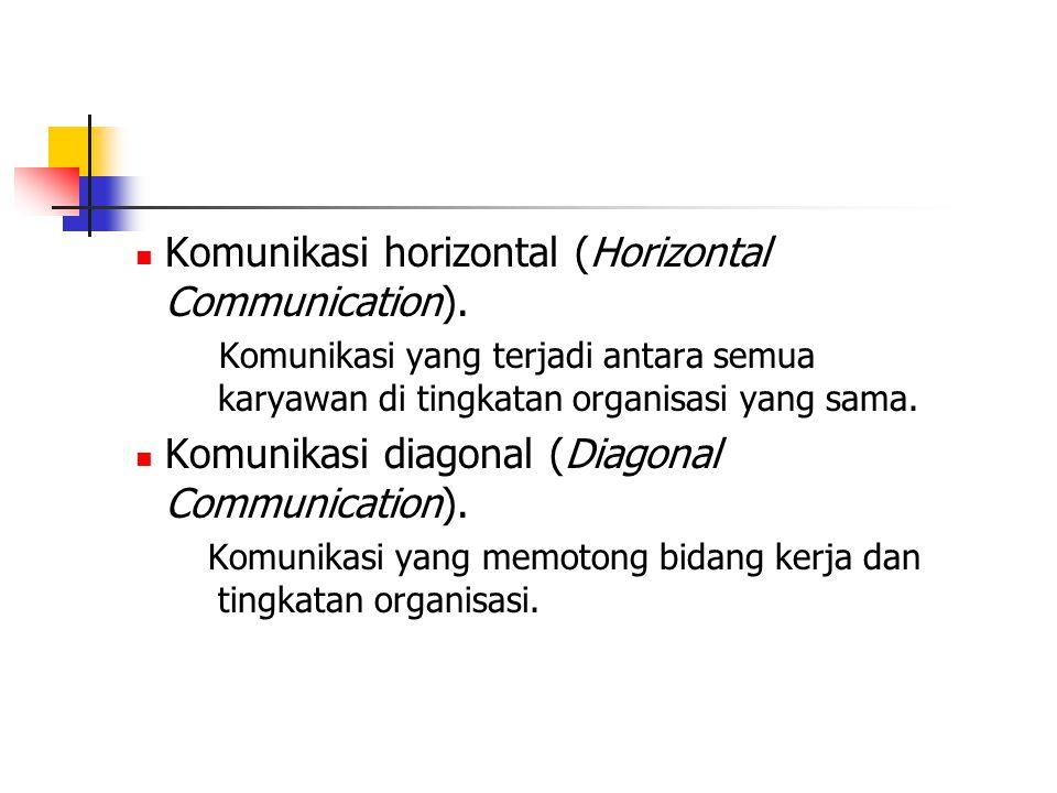 Komunikasi horizontal (Horizontal Communication).