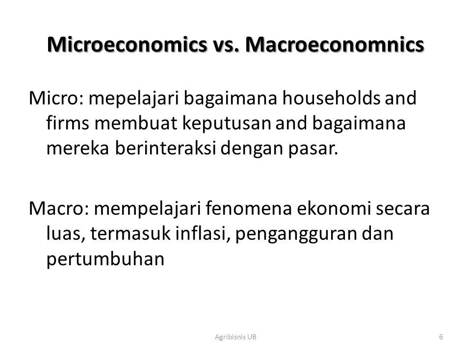Microeconomics vs. Macroeconomnics