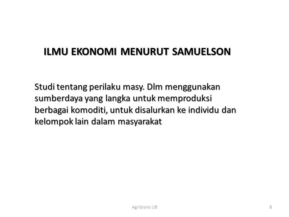 ILMU EKONOMI MENURUT SAMUELSON