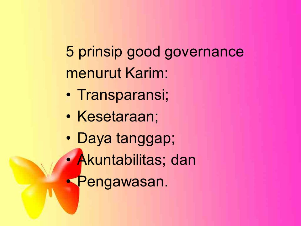 5 prinsip good governance