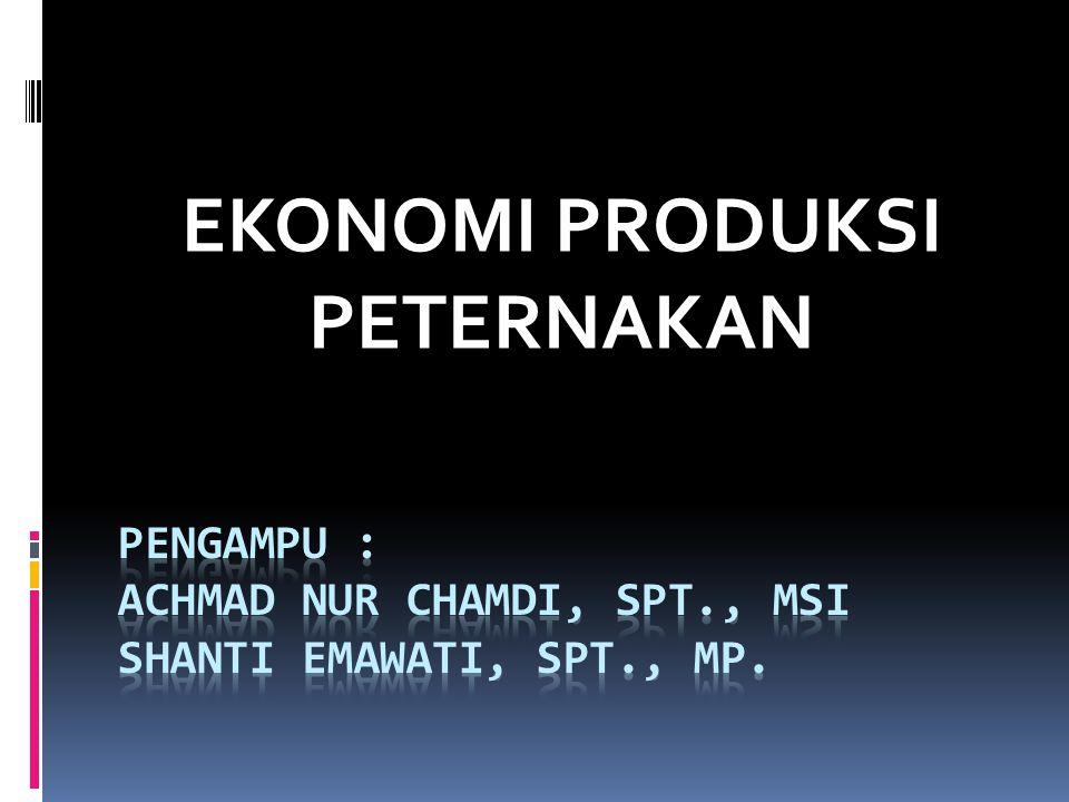 Pengampu : achmad nur chamdi, spt., mSi shanti emawati, spt., mp.