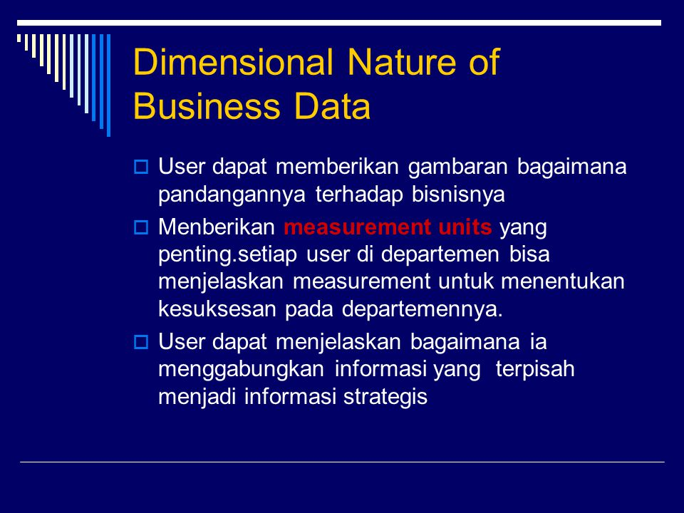 Dimensional Nature of Business Data