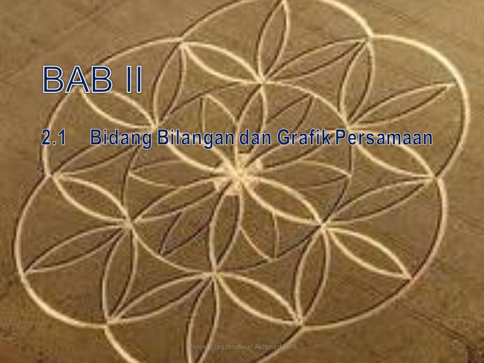 2.1 Bidang Bilangan dan Grafik Persamaan