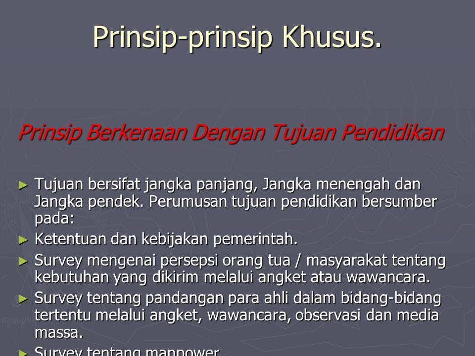 Prinsip-prinsip Khusus.