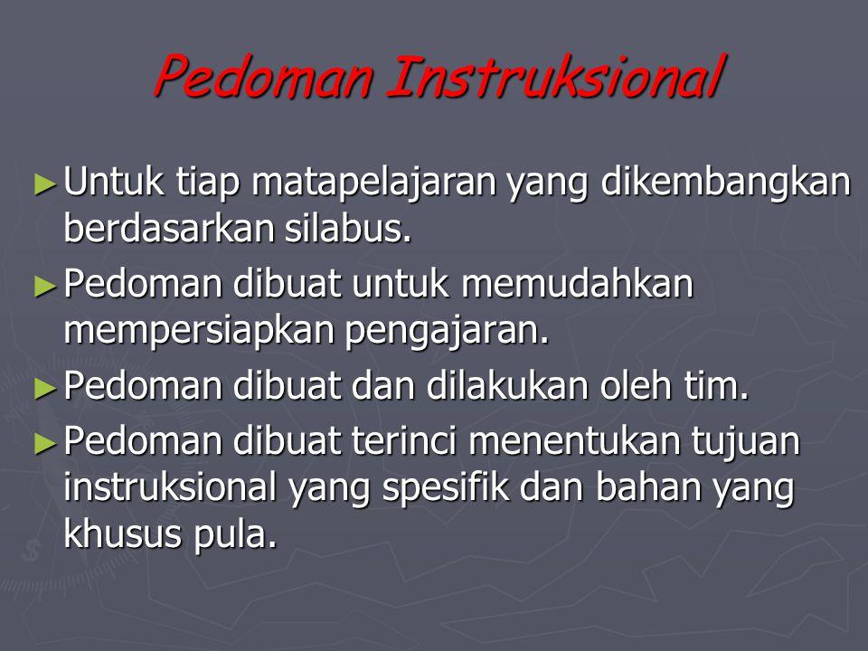 Pedoman Instruksional
