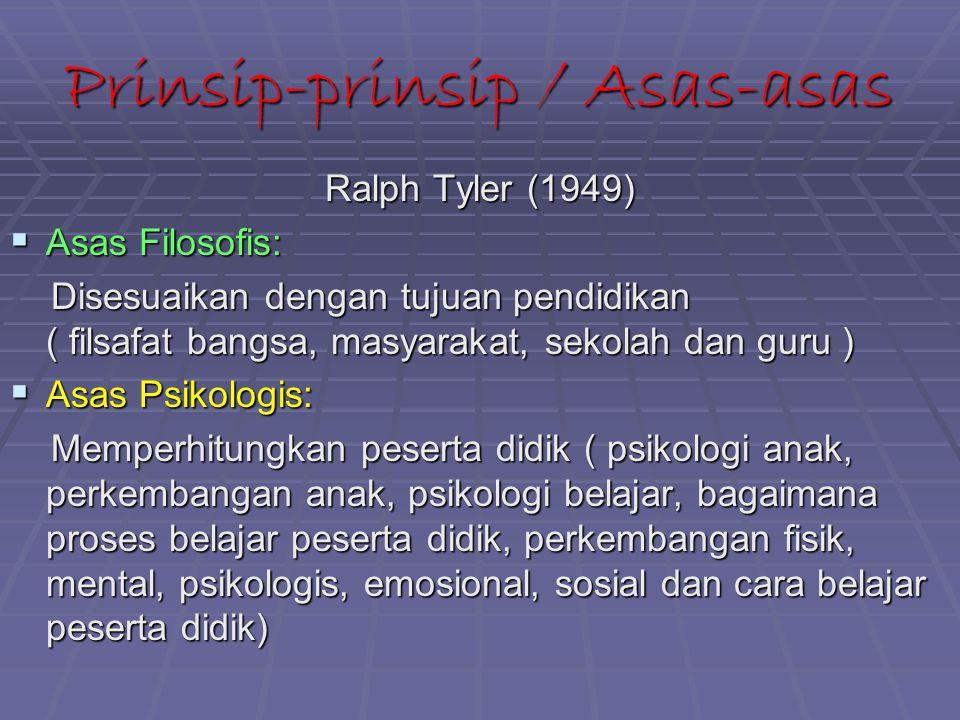 Prinsip-prinsip / Asas-asas