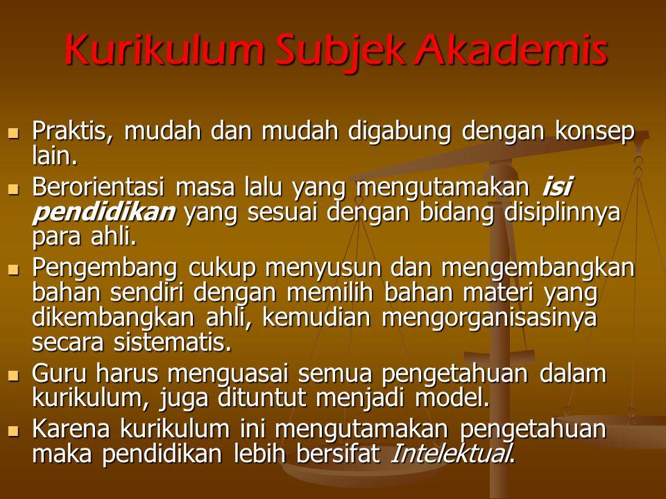 Kurikulum Subjek Akademis