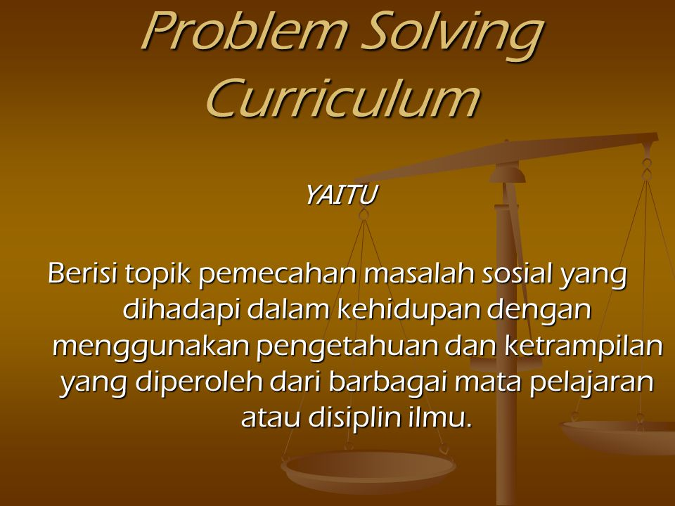 Problem Solving Curriculum