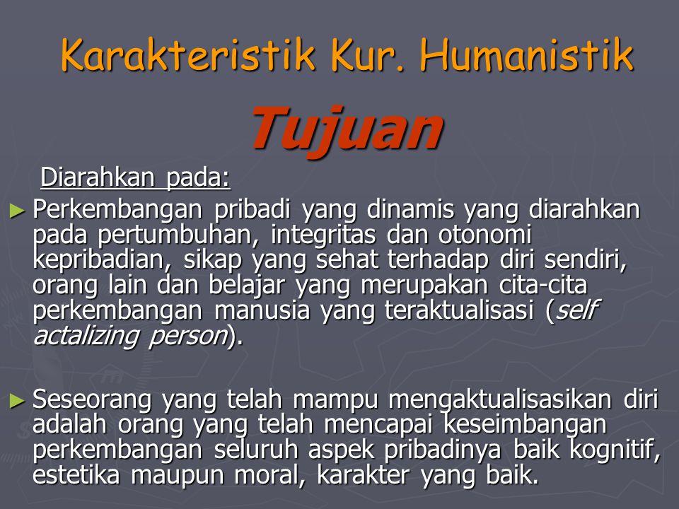 Karakteristik Kur. Humanistik