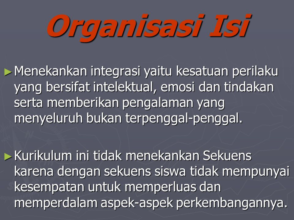 Organisasi Isi