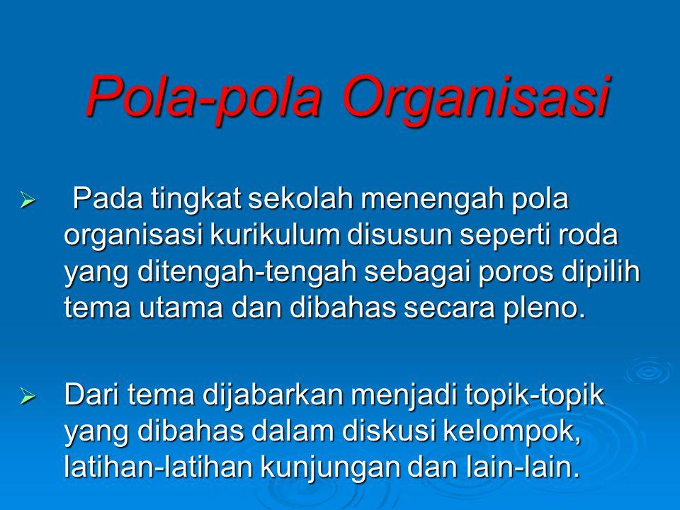 Pola-pola Organisasi