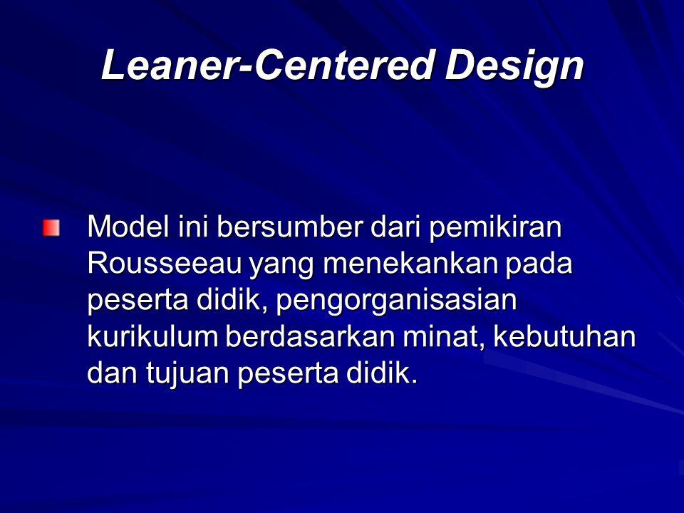 Leaner-Centered Design