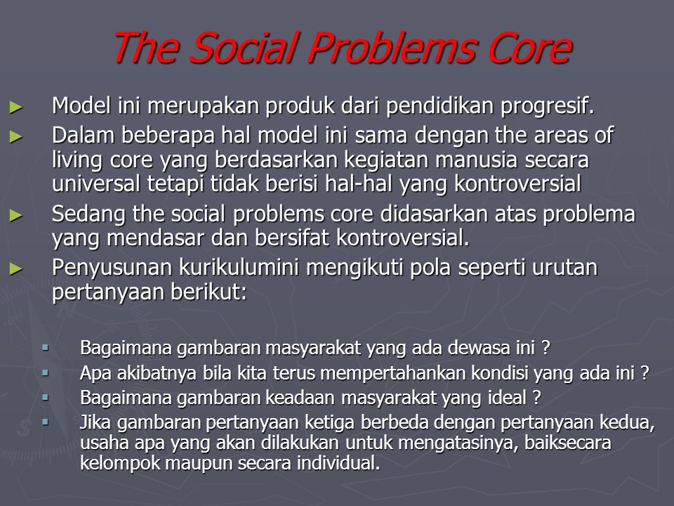 The Social Problems Core