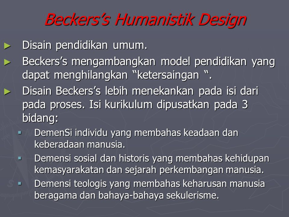 Beckers's Humanistik Design