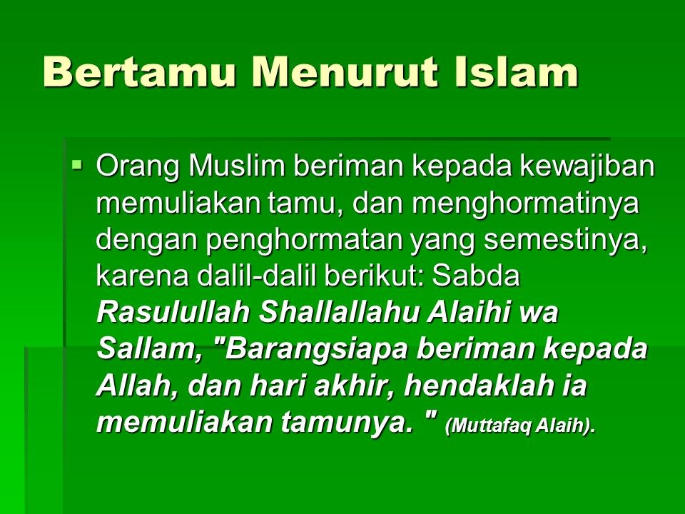 Bertamu Menurut Islam