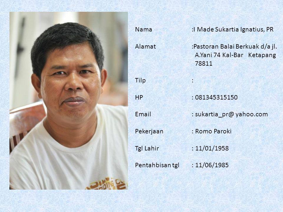 Nama :I Made Sukartia Ignatius, PR