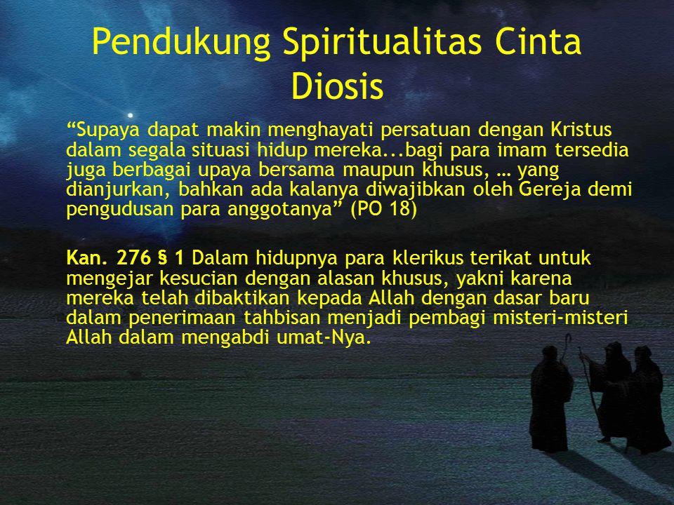 Pendukung Spiritualitas Cinta Diosis