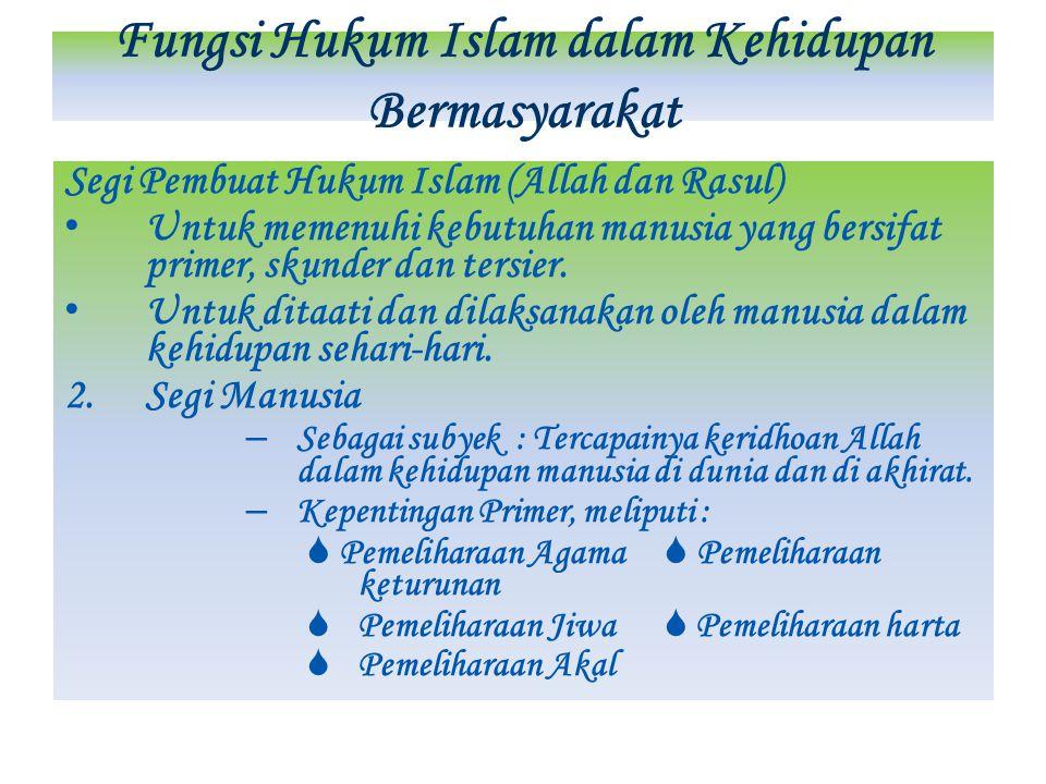 Fungsi Hukum Islam dalam Kehidupan Bermasyarakat