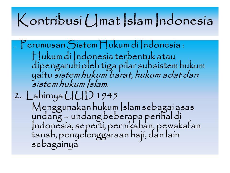 Kontribusi Umat Islam Indonesia