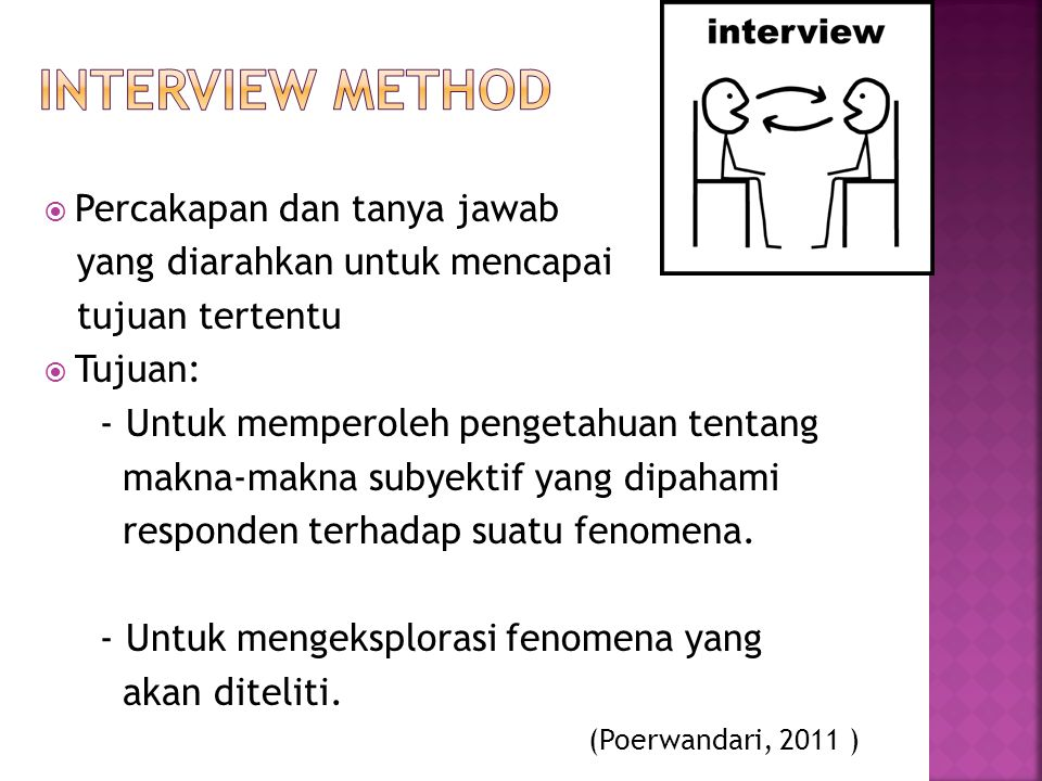 interview Method Percakapan dan tanya jawab