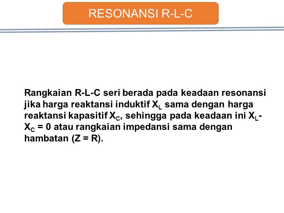 RESONANSI R-L-C