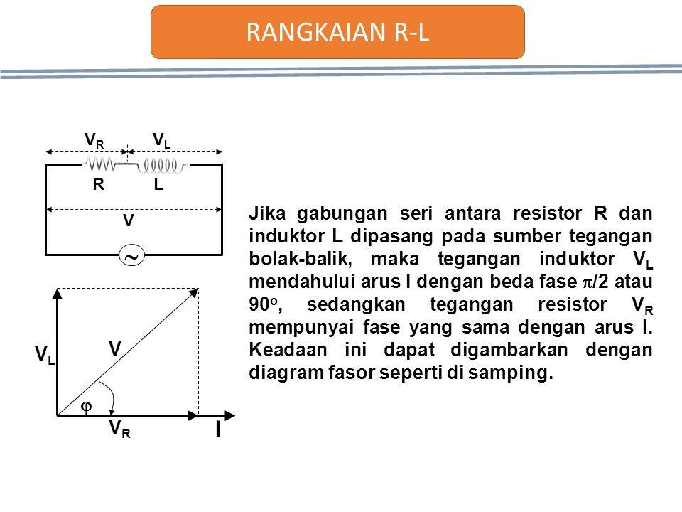 RANGKAIAN R-L  R. L. VR. VL. V.