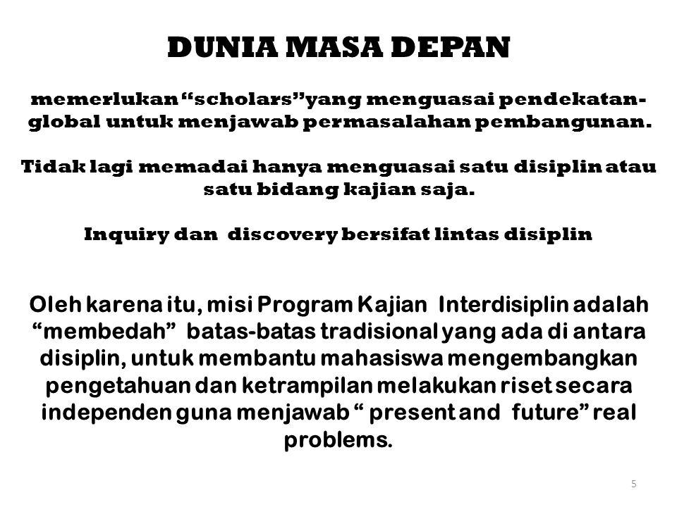 Inquiry dan discovery bersifat lintas disiplin