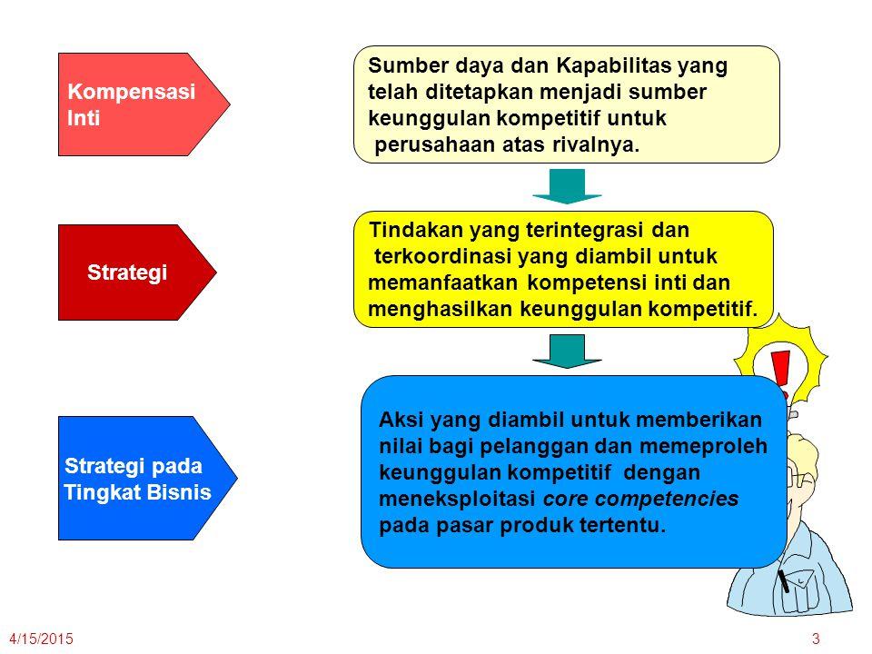 Strategi Strategi pada Tingkat Bisnis