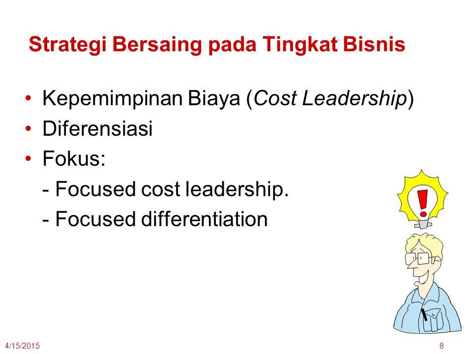 Strategi Bersaing pada Tingkat Bisnis