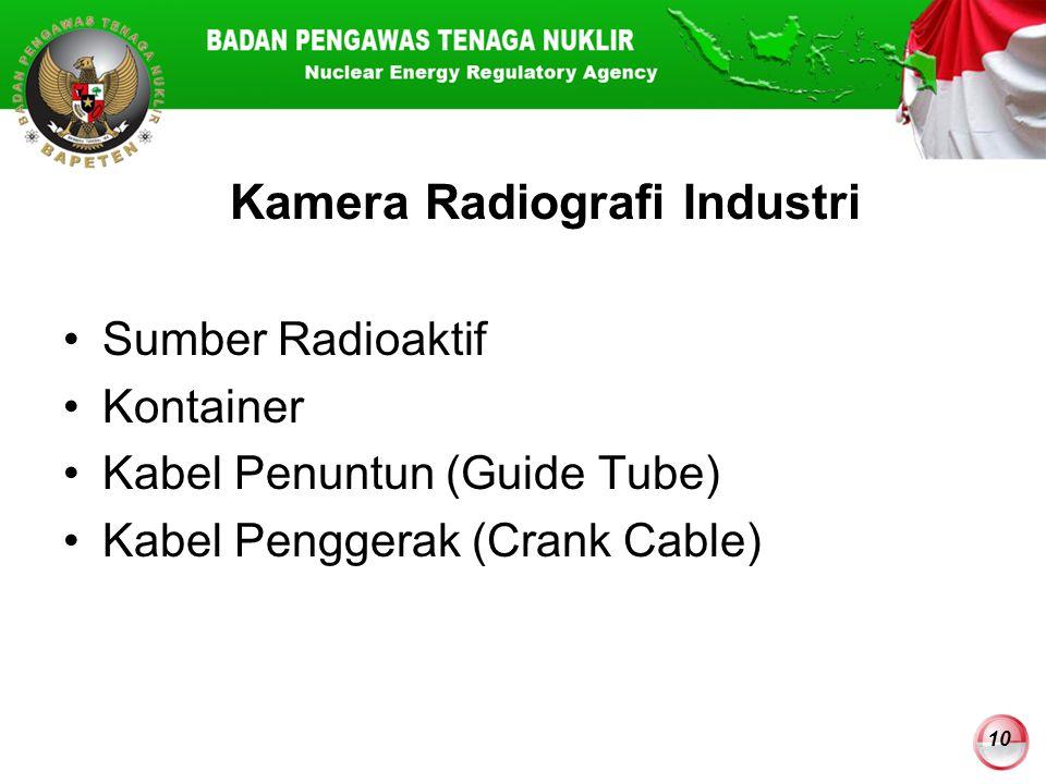 Kamera Radiografi Industri