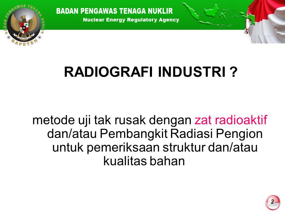 RADIOGRAFI INDUSTRI
