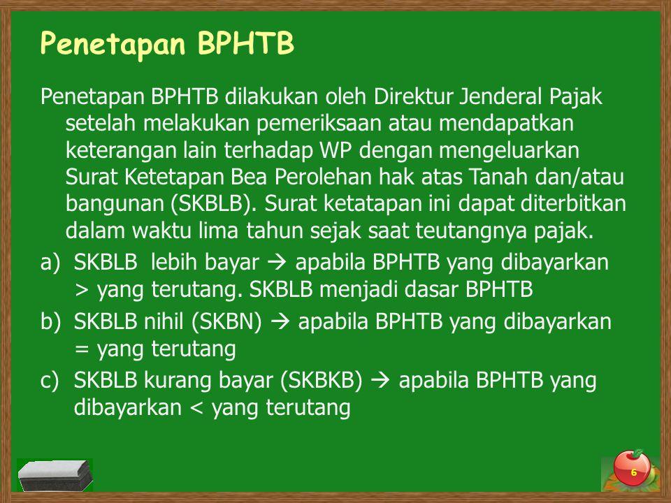 Penetapan BPHTB