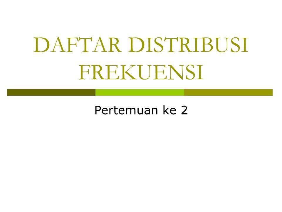 DAFTAR DISTRIBUSI FREKUENSI