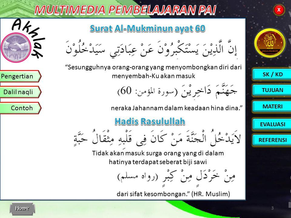 Surat Al-Mukminun ayat 60