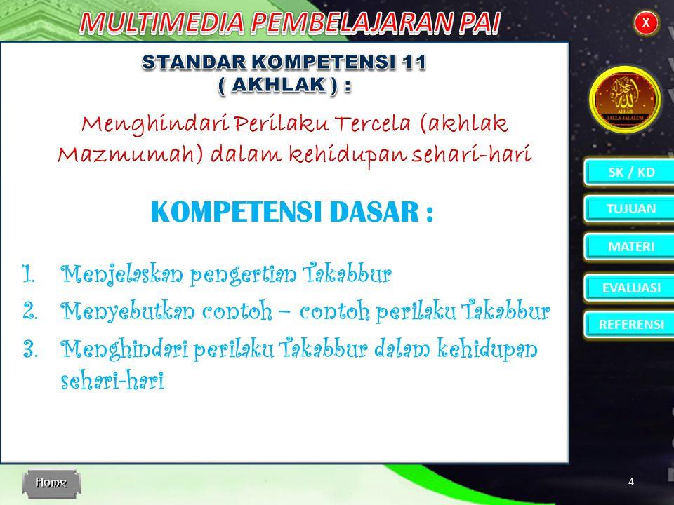 STANDAR KOMPETENSI 11 ( AKHLAK ) :