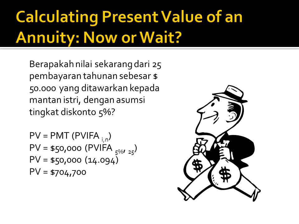 Calculating Present Value of an Annuity: Now or Wait