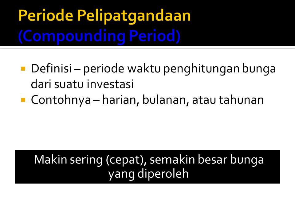 Periode Pelipatgandaan (Compounding Period)