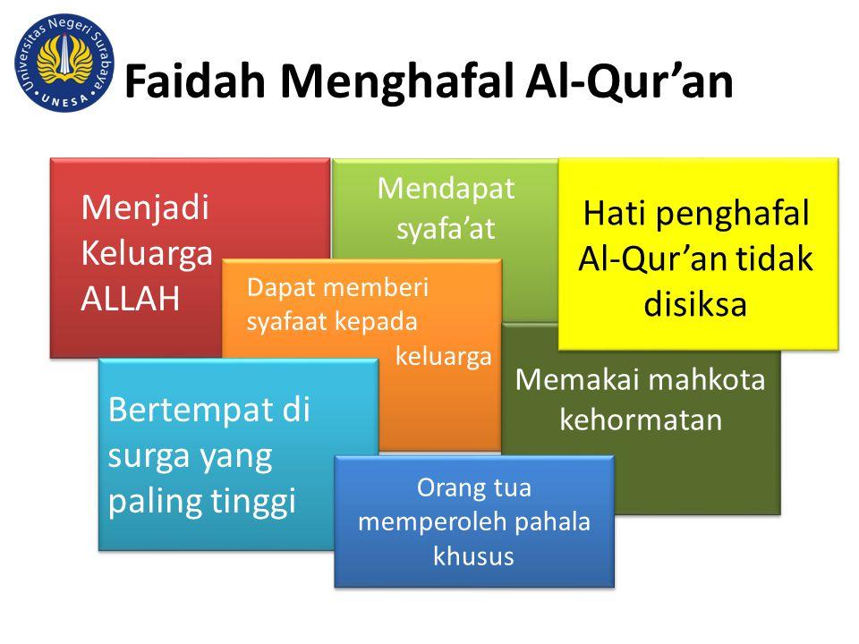 Faidah Menghafal Al-Qur'an