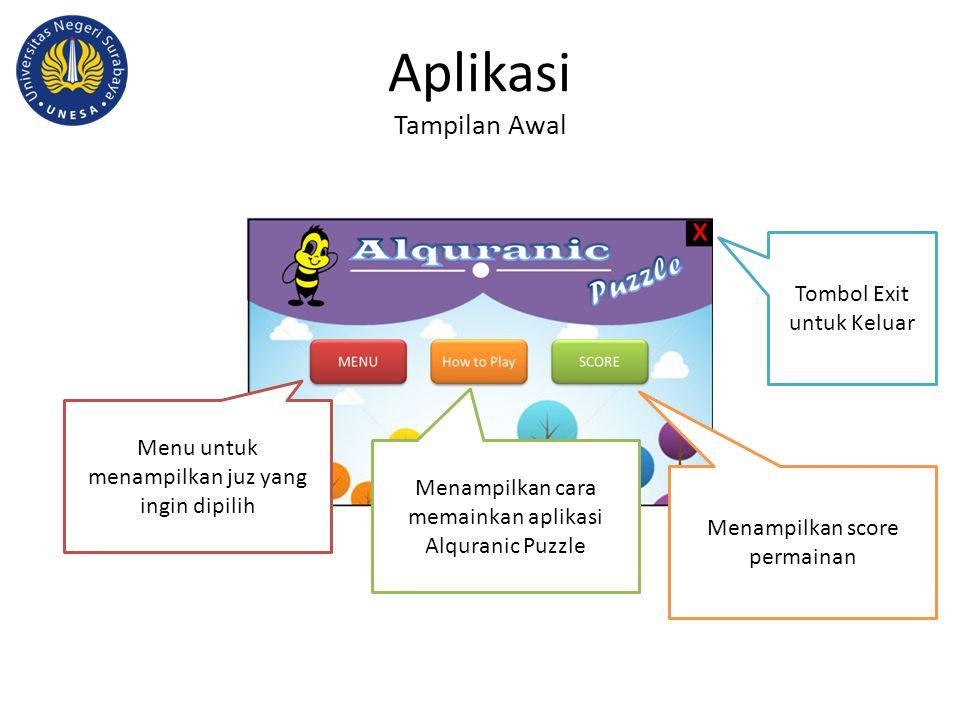 Aplikasi Tampilan Awal