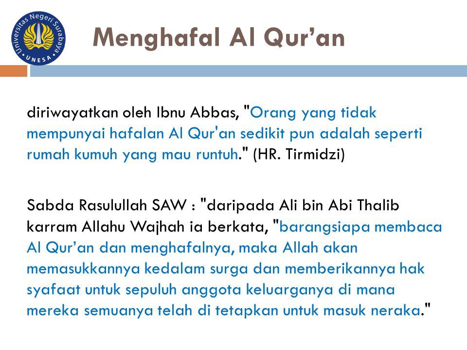 Menghafal Al Qur'an