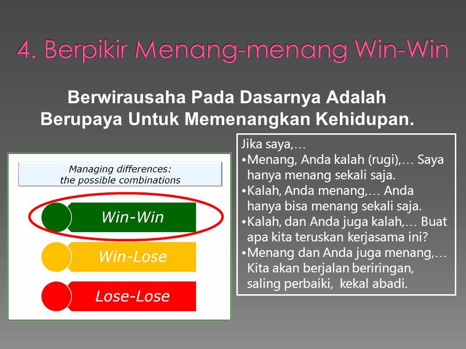 4. Berpikir Menang-menang Win-Win