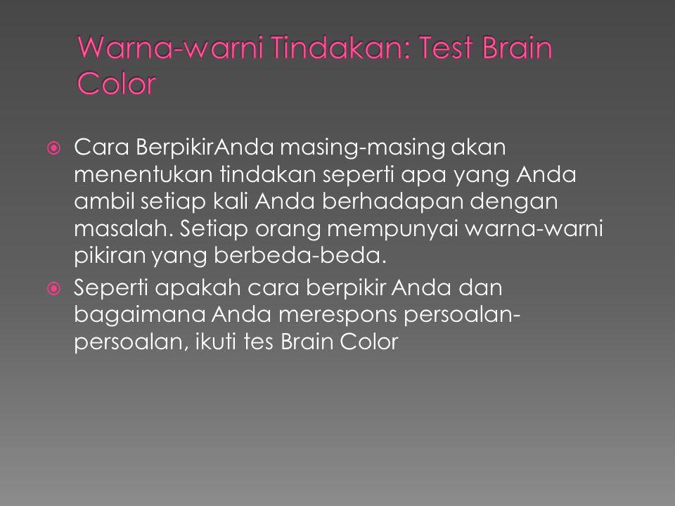 Warna-warni Tindakan: Test Brain Color