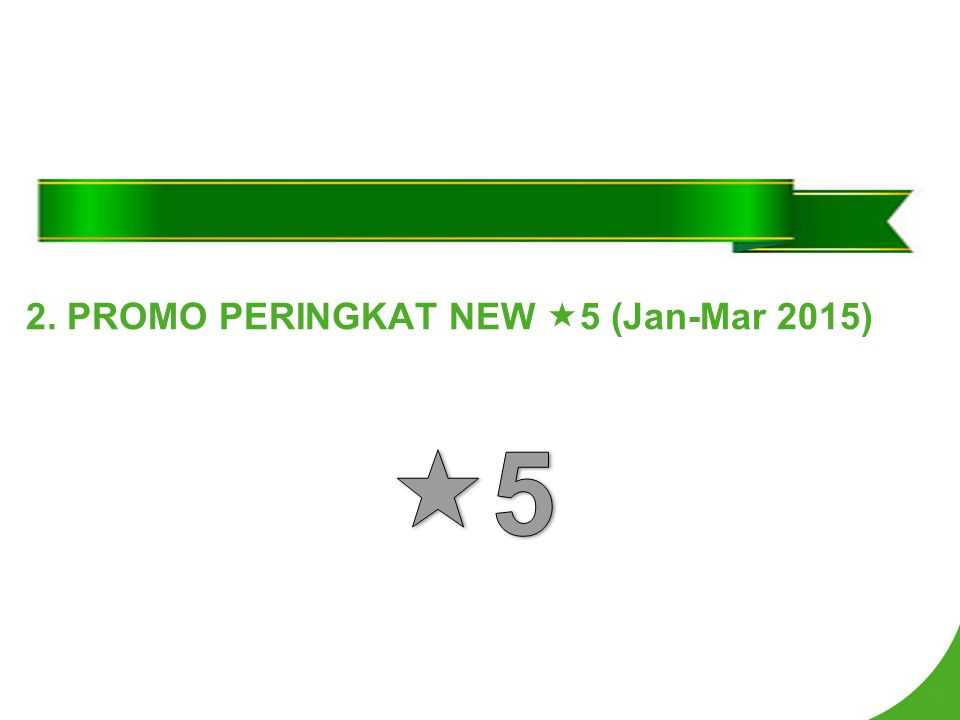 2. PROMO PERINGKAT NEW 5 (Jan-Mar 2015)